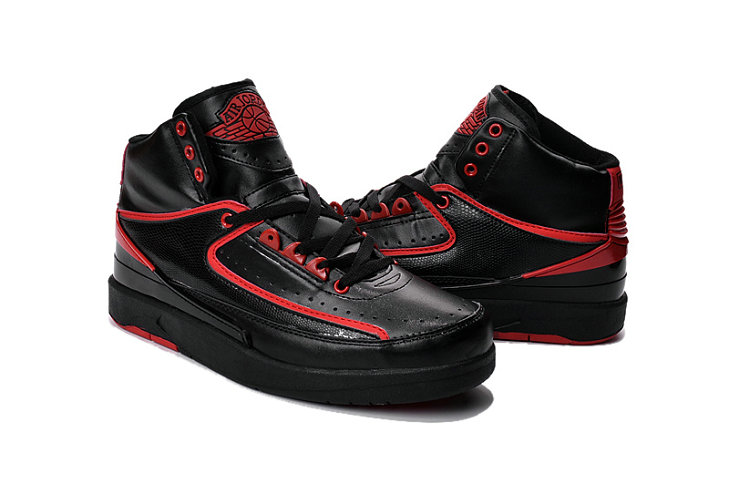 Cheap Wholesale Air Jordan 2 Red Black For Mens