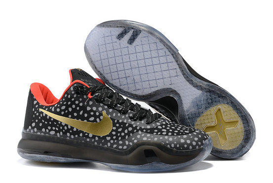 Cheap Wholesale Kobe 10 Shoes Black Gold Red Grey