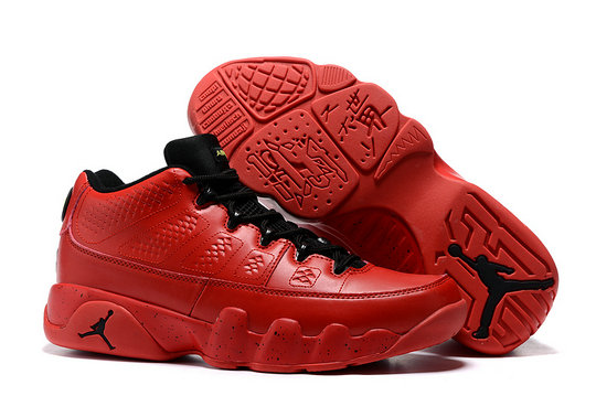 Cheap Wholesale Air Jordan 9 Low Red Black