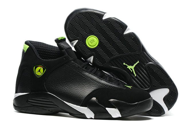2016 Air Jordan 14 Black Green White Cheap Wholesale Sale