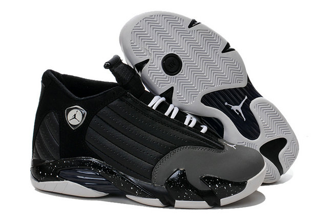 Cheap Wholesale Air Jordan 14 For Mens Black Grey White