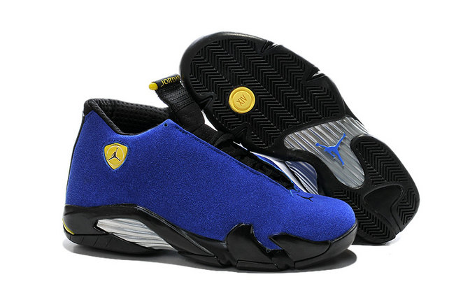 Cheap Wholesale Air Jordan 14 For Mens Blue Yellow Black