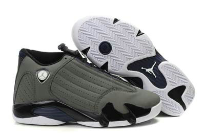 Cheap Wholesale Air Jordan 14 For Mens Grey Black White