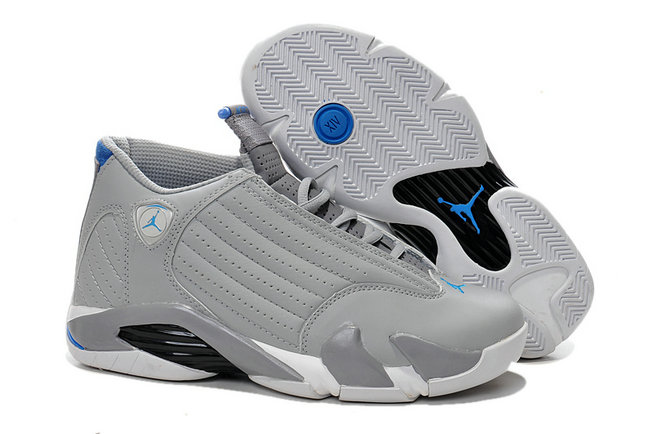 Cheap Wholesale Air Jordan 14 For Mens Grey Blue Black White