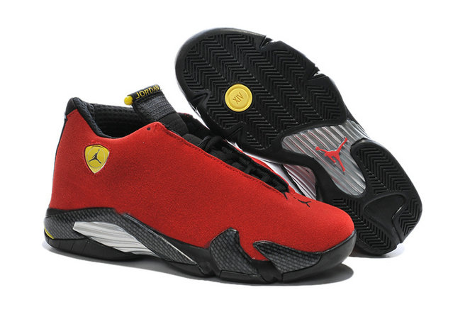 Cheap Wholesale Air Jordan 14 For Mens Red Black