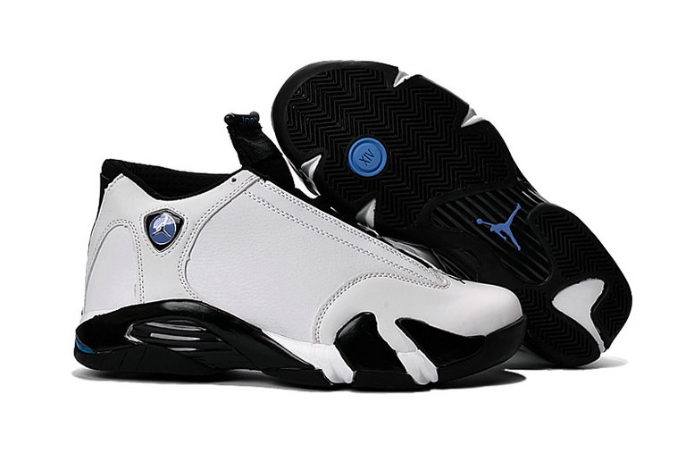 Cheap Wholesale Air Jordan 14 For Mens White Black Blue