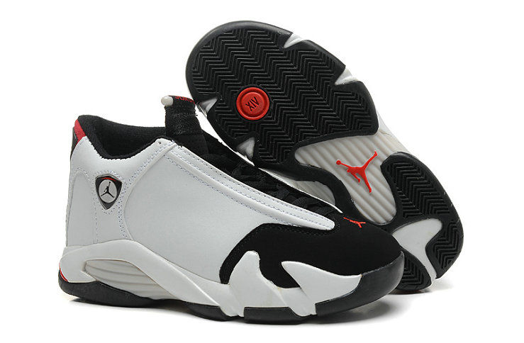 Cheap Wholesale Air Jordan 14 For Mens White Red Black