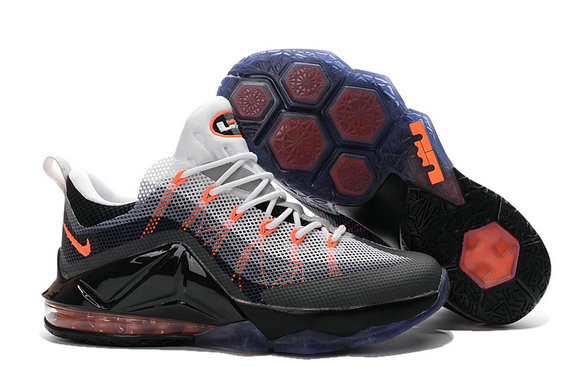 Cheap Wholesale Nike LeBron 12 Low Air Max 95 Hybrid Grey Orange White Black