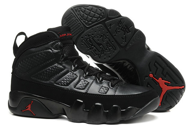 Cheap Wholesale Women Air Jordan 9 Retro Black Fire Red