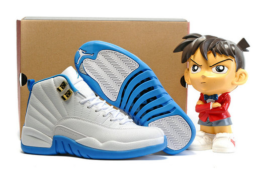 Cheap Wholesale Air Jordan Retro 12 Womens Blue White New Arrival