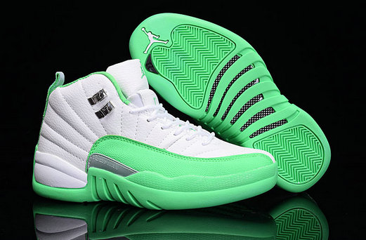 Cheap Wholesale Air Jordan Retro 12 Womens Green White New Arrival