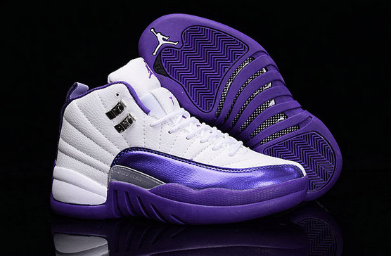 Cheap Wholesale Air Jordan Retro 12 Womens Purple White New Arrival