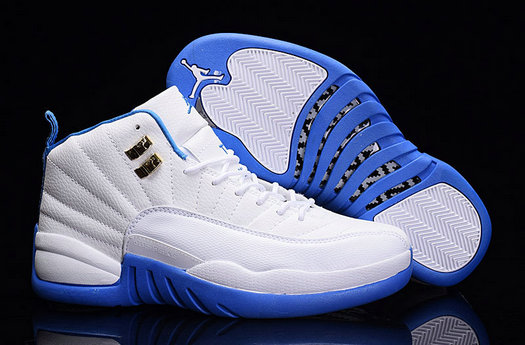 Cheap Wholesale Air Jordan Retro 12 Womens Royal Blue White New Arrival