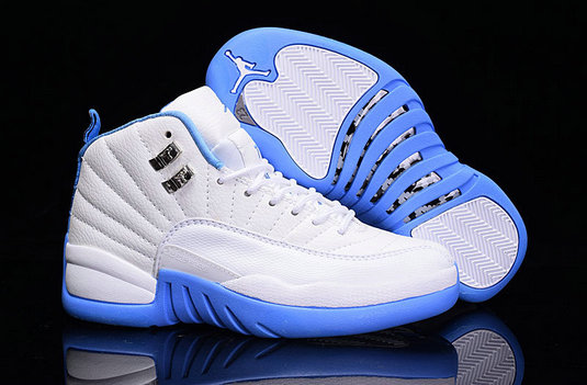 Cheap Wholesale Air Jordan Retro 12 Womens Sky Blue White New Arrival