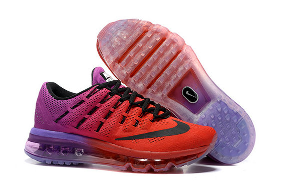 Cheap Wholesale Air Max 2016 Orange Purple Black Shoes