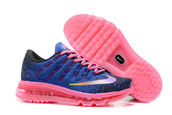 Cheap Wholesale Air Max 2016 Pink Blue Black Shoes