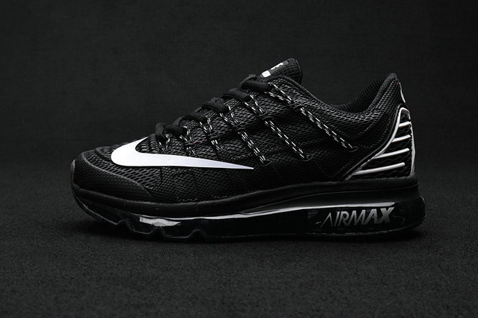 Cheap Wholesale Air Max 2016 Premium Mens All Black Grey 3M