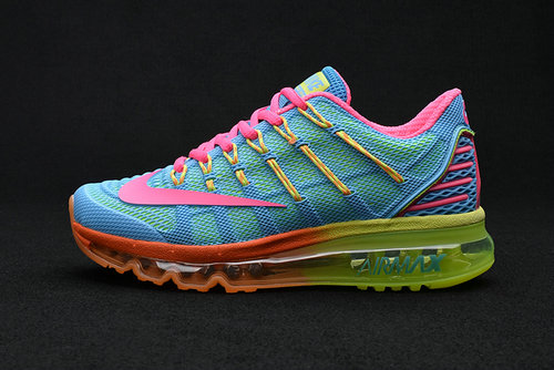 Cheap Wholesale Air Max 2016 Premium Blue Green Pink Yellow 3M