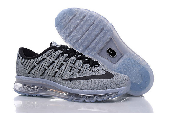 Cheap Wholesale Air Max 2016 Light Grey Black Mens
