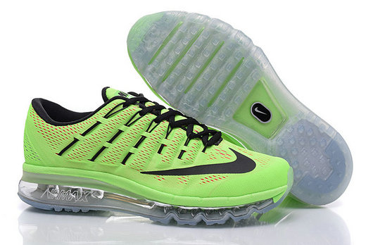 Cheap Wholesale Air Max 2016 Fluorescent Green Black Grey Mens