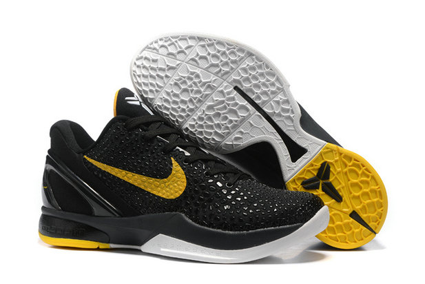 Cheap Wholesale Nike Kobe 6 Black Yellow White