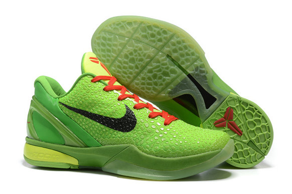 Cheap Wholesale Nike Kobe 6 Black Green Red