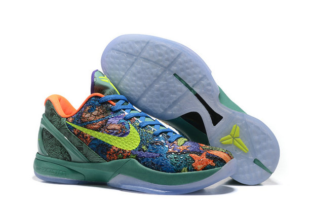 Cheap Wholesale Nike Kobe 6 Green Blue Orange