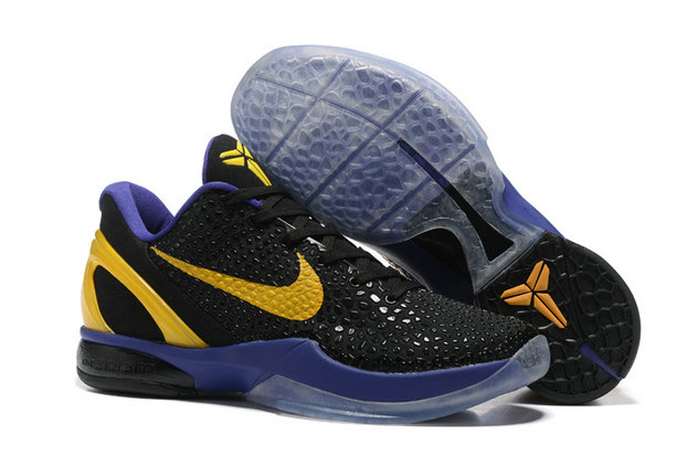 Cheap Wholesale Nike Kobe 6 Purple Black Yellow