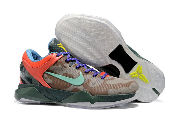 Cheap Wholesale NikeKobe 7 Orange Blue Yellow Brown