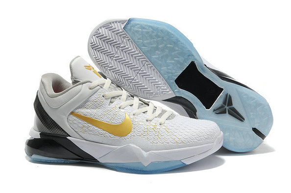 Cheap Wholesale NikeKobe 7 White Gold Black