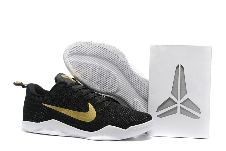 Cheap Wholesale NikeKobe 11 Gold White Black