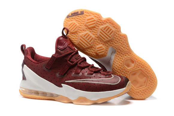 Cheap Wholesale Nike Lebron James 13 Low Wine Red White