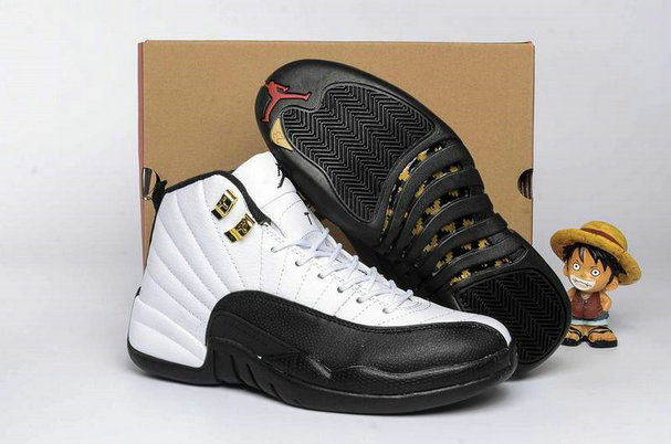 Cheap Wholesale AirJordan 12 Retro Womens Black White