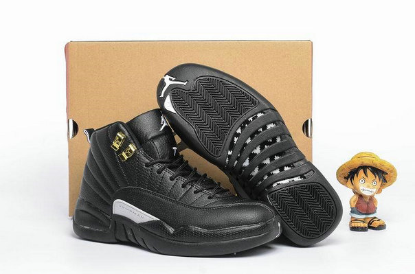 Cheap Wholesale AirJordan 12 Retro Womens Gold Black White