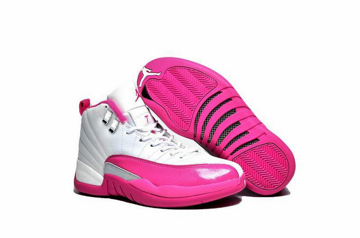 Cheap Wholesale AirJordan 12 Retro Womens Pink White Grey