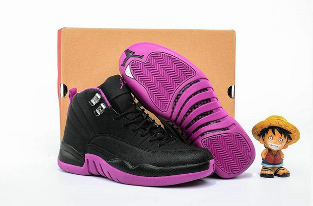 Cheap Wholesale AirJordan 12 Retro Womens Purple Black