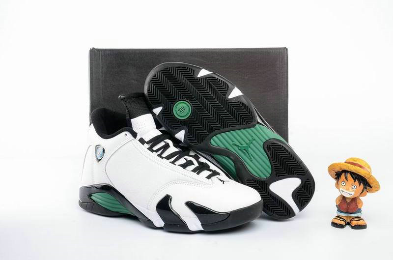 Cheap Wholesale AirJordan 14 Retro Grass Green White Black
