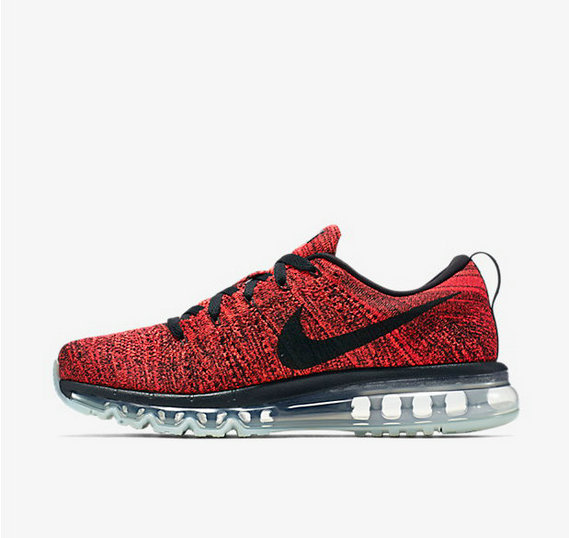Cheap Wholesale Flyknit AirMax Red Black Grey