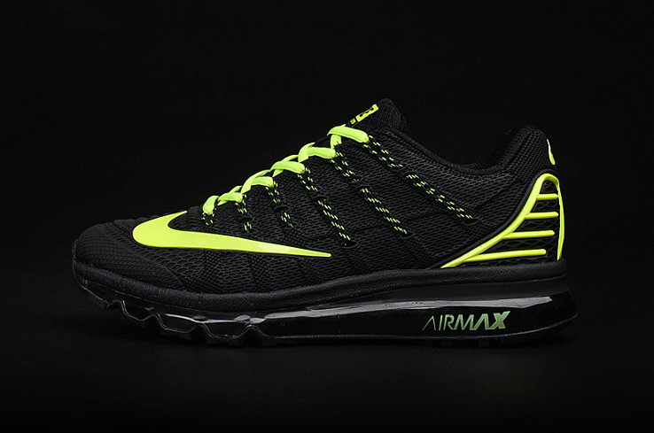 Cheap Wholesale AirMax 2016 Fluorescent Green Black