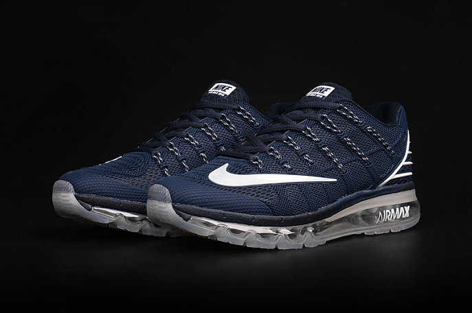 Cheap Wholesale AirMax 2016 Navy Blue Grey White