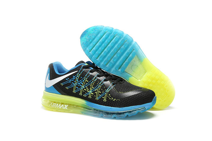 Cheap Wholesale AirMax 2015 Blue Green Black White