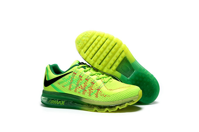 Cheap Wholesale AirMax 2015 Fluorescent Green Black
