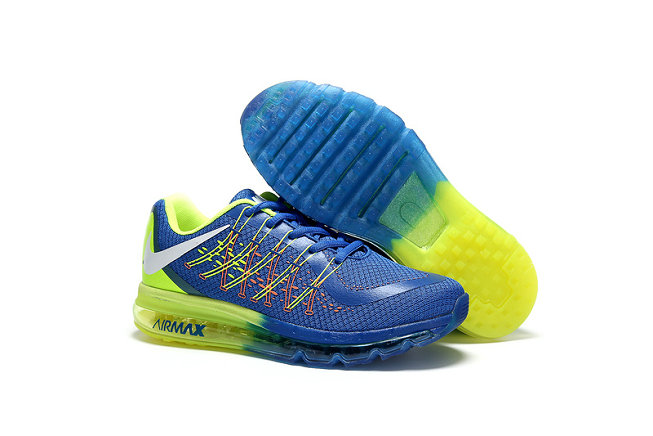 Cheap Wholesale AirMax 2015 Fluorescent Green Blue