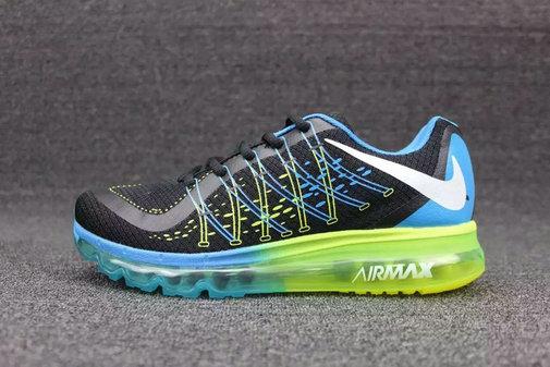 Cheap Wholesale Nike AirMax 2015 Black Blue Green