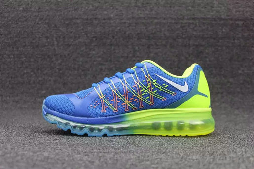 Cheap Wholesale Nike AirMax 2015 Blue Fluorescent Green Grey
