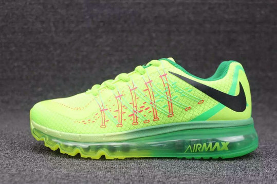 Cheap Wholesale Nike AirMax 2015 Fluorescent Green Black