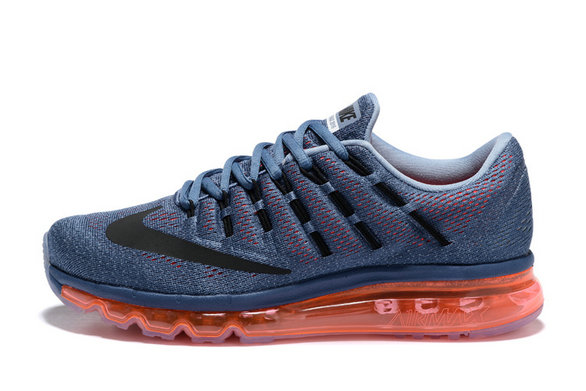 Cheap Wholesale Nike AirMax 2016 Grey Orange Black
