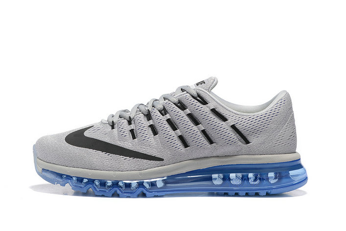 Cheap Wholesale AirMax 2016 Mens Blue Grey Black