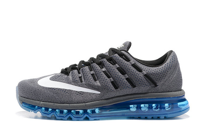 Cheap Wholesale AirMax 2016 Mens Grey White Blue Black