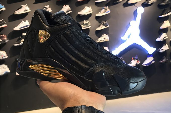 2017 Air Jordan 14 Retro DMP Black Gold For Sale
